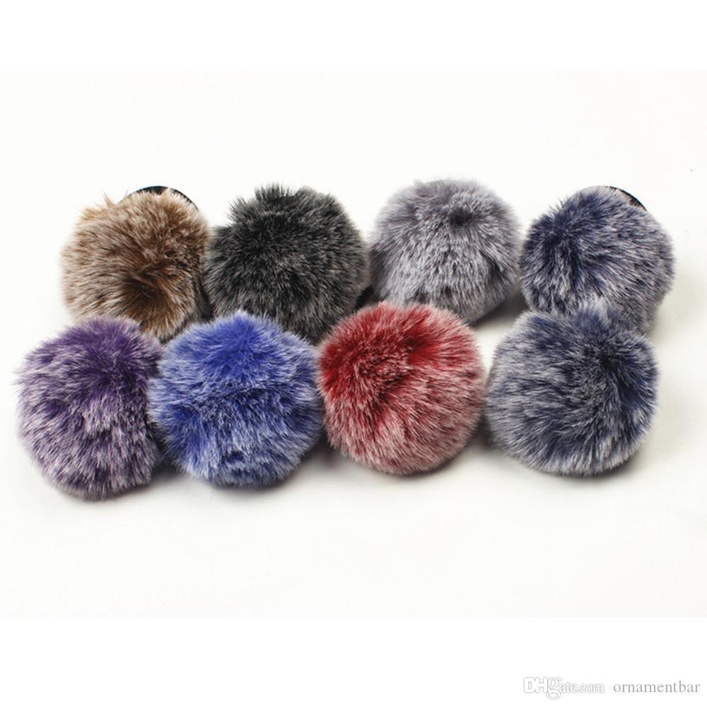 design distinctif gamme complète d'articles commercialisable Rabbit Fur Hair Band Elastic Hair Bobble Pony Tail Holder hair accessories  barrette cheveux bandeau cheveux femme adulte