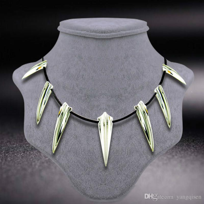 19174efa2a2b8 2018 new Avengers Black Panther Props Necklace Wakanda King T Challa Black  Panther Cosplay Costume Necklace