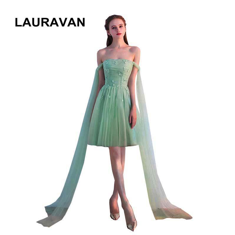 c618a4b68 Compre Bridesmade Convertible Abrigo Elegancia Menta Verde Niñas Vestido De  Fiesta Dama De Honor Vestido Formal Corto Ocasión Vestidos Envío Gratis A   56.54 ...