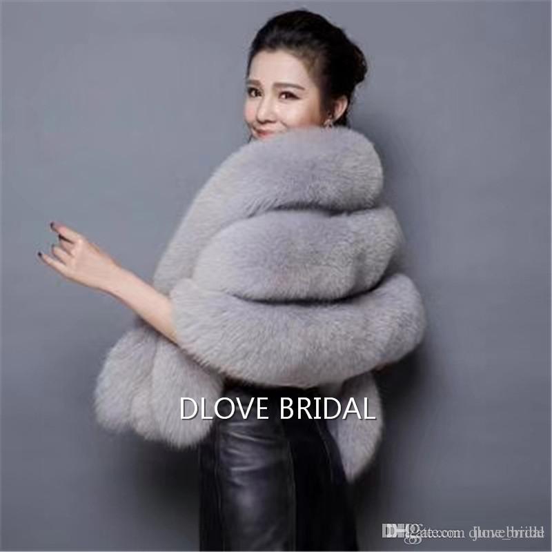 Latest Faux Fur Bridal Scarf with Pocket High Quality Fashion Special Occasion Evening Party Shawl Shrug Shawl Fall Winter Wedding Warm Coat
