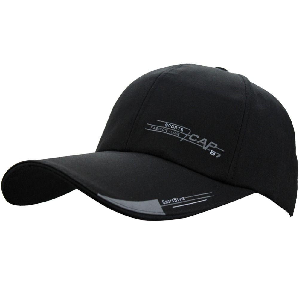 d83243e9 Womens Mens Unisex Summer Cotton Baseball Cap With Long Large Bill Sports  Golf Running Fishing Outdoor Research Sun Hat Hat Embroidery Cap Rack From  Huteng, ...