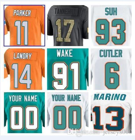 5e2d820a0 2018 Miami Jarvis Landry Dolphins Jersey Charles Harris Jay Cutler Soccer  Rugby College Retro Rugby American Football Jerseys Stitched Cheap 4xl From  ...