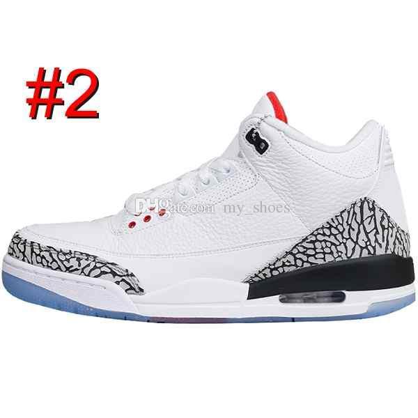 3 siyah çimento 3 s beyaz çimento 3 OG Gerçek Mavi 3 Erkekler Basketbol Ayakkabı 3 s kurt gri Spor sneakers erkek eğitmen
