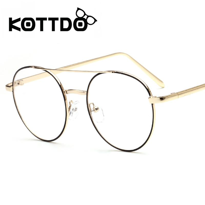ac919f2e30e 2019 KOTTDO 2017 Metal Round Eyeglasses Frames Women Men Designer Optical  Reading Glasses Frame Clear Lens Eye Glasses Retro Eyewear From  Newcollection