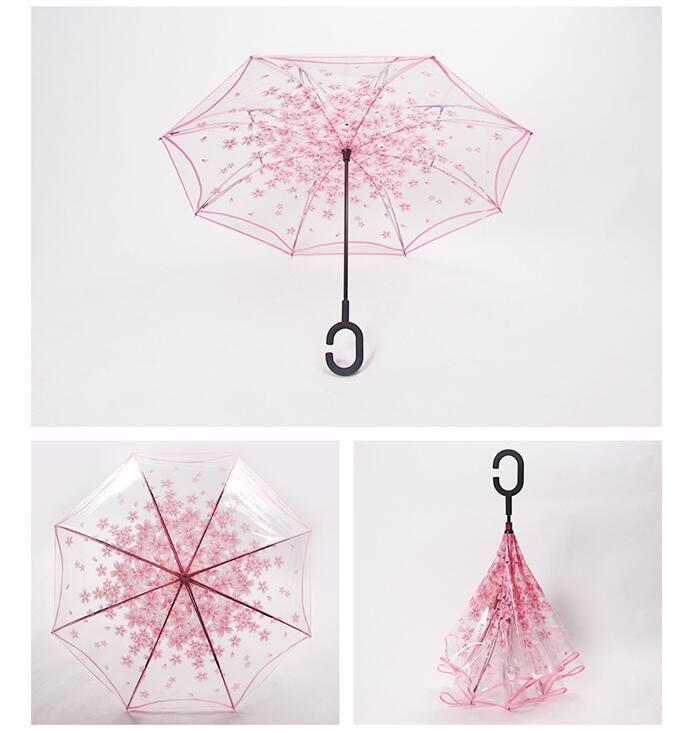 Neue Transparent Klar Regenschirm Dance Performance Langen Griff Regenschirme Bunte Strandschirm Für Männer Frauen Kinder Kinder Regenschirme