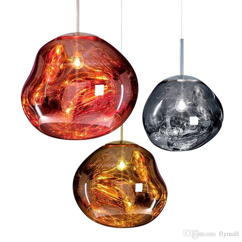 Modern Tom Dixon Melt Pendant Lights Glass Lava Irregular Hanging