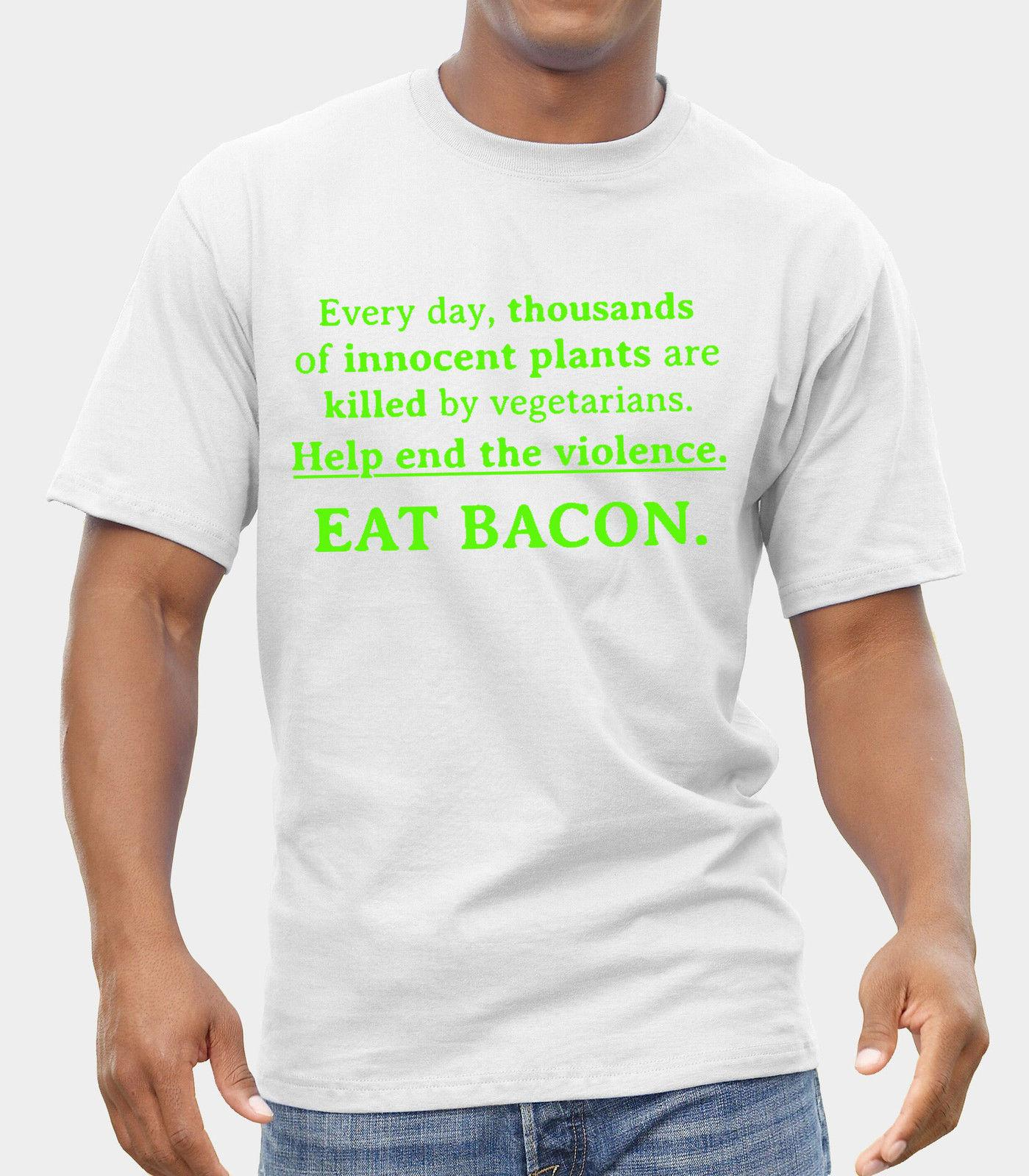 e0c0b2b6 Eat Bacon Mens Funny T Shirt Fathers Day Gift For Dad Birthday Print T  Shirt Men Short Sleeve TOP TEE Fashion Summer Top Tee Men'S T Shirt Shirts  T Shirts T ...