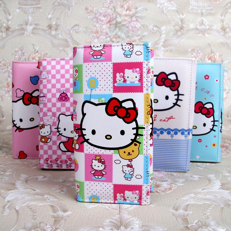 Cute Cartoon Hello Kitty Wallet Cat Bag Women Leather Wallets For Girls  Clutch Purse Lady Party Wallet Card Holder Girls Gift Seatbelt Purse  Vintage Purses ... dac30f5d45