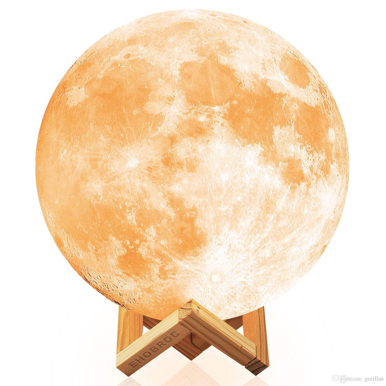 Großhandel Nachtlicht Mond Lampe Wiederaufladbare 3D Print Moonlight ...