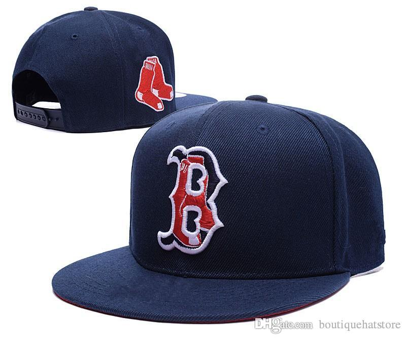 a74d744e945 ... where to buy new mens red sox snapback hats in navy blue color  embroidered b letter