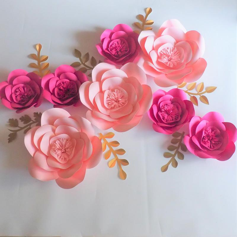 2018 2018 aritificial large paper flowers backdrop leaves for 2018 2018 aritificial large paper flowers backdrop leaves for wedding event decor baby nursery mix rose baby pink from fivestarshop 995 dhgate mightylinksfo
