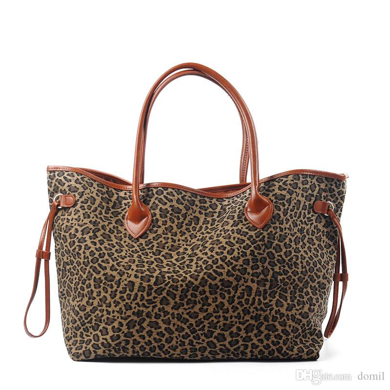 fade64c29794 Cheetah Casual Tote Wholesale Blanks Leopard Handbag Black Brown Canvas  Leopard Purse Wedding Gift Bag DOM106388 Big Handbags Straw Handbags From  Domil