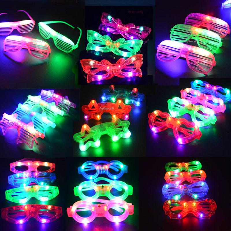 2018 Cool Blinking Led Blind Mask Eye Glasses Light Up Flashing Gifts Party Supplies Adult Child Glow Wedding Decoration