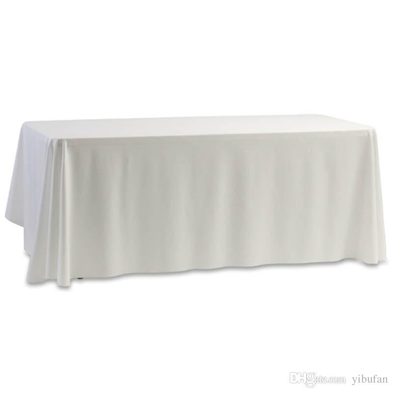Tapa de tabla negra blanca del mantel para la decoración del banquete de boda del banquete 145x145cm Decorartion casero teñido llano
