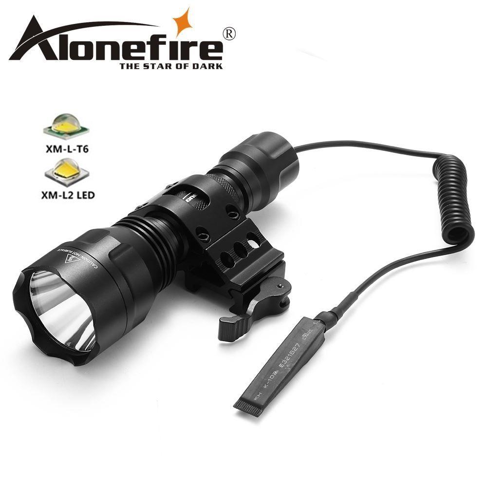 Alonefire Lampe Cree Lumière Xml Flash Camp Bike Portable 18650 Torche Light Flashlight C8s Chasse Tactical T6 Puissant A534RjL