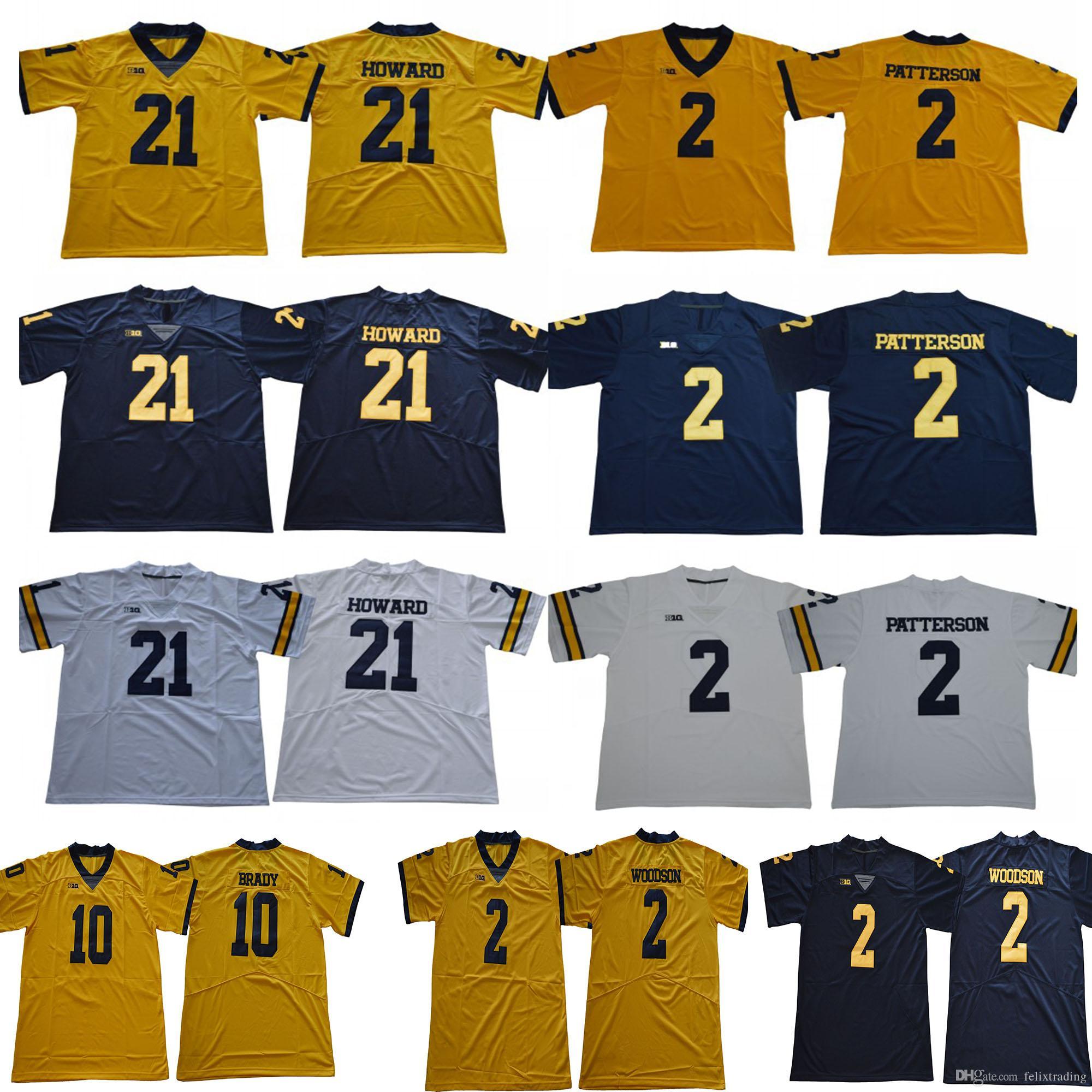 5d3343631 Michigan Wolverines  10 Dylan McCaffrey 2 Shea Patterson Brady ...