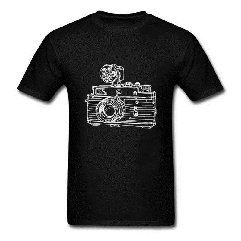 Shirt Making Websites Men'S Vintage Camera Doodles Sketch Short Sleeve Gift Crew Neck Shirts