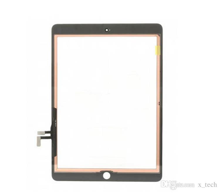 IPad hava Dokunmatik Cam Ekran Digitizer Ev düğmesi ile 3 M Yapıştırıcı Tutkal Bant iPad hava iPad 5 montaj Değiştirme için