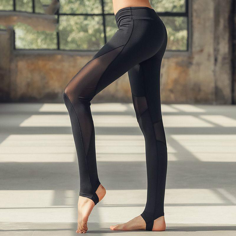 5ad4c563af 2019 Women Yoga Pants High Elastic Fitness Sport Leggings Tights Slim  Running Sportswear Sports Pants Quick Drying Dance Foot From Longanguo, ...