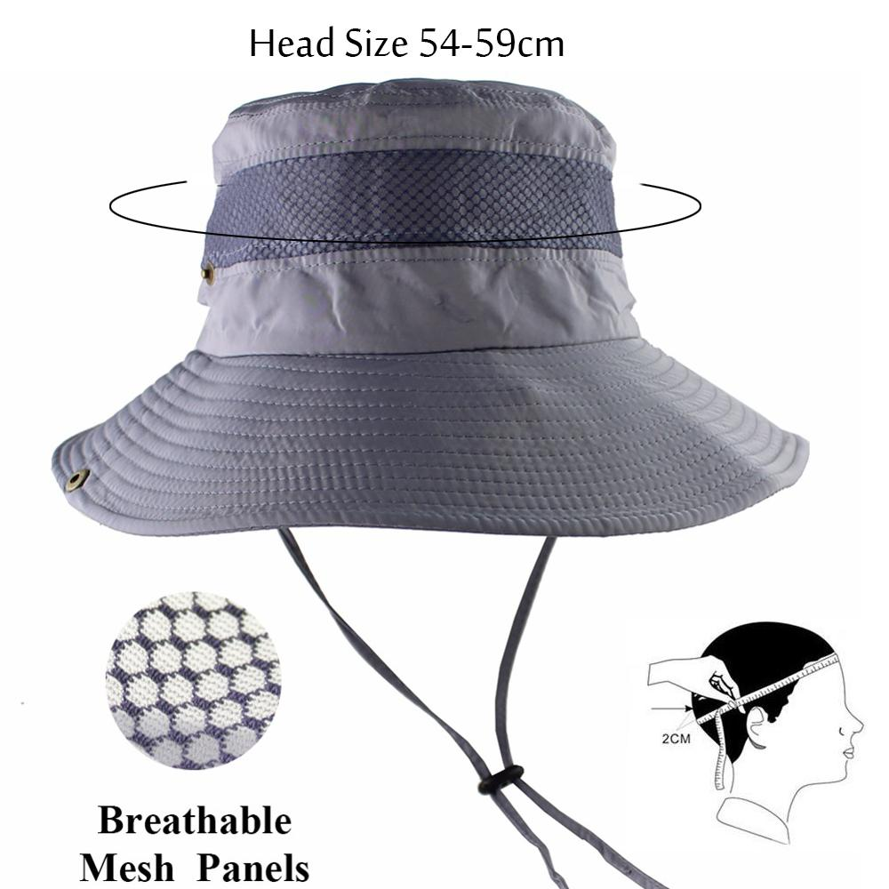 e61b88d56e0 2019 UPF 50+ Bucket Hat Summer Men Women Fishing Boonie Hats UV Protection  Long Large Wide Brim Bob Hiking Sun Hat Outdoor Cap Bob From Walon123