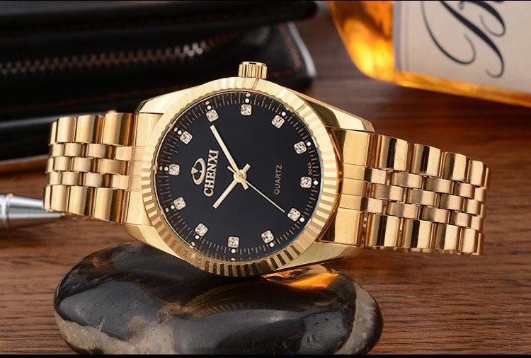 2018 En kaliteli Adam kadın altın İzle Paslanmaz çelik lüks Casual kol Ünlü marka kuvars İzle erkek saat Moda spor Yeni izle