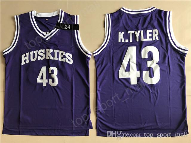 The 6th Man Movie 43 Kenny Tyler Jersey Men Huskies College Basketball  Marlon Wayans Jerseys University Purple Uniform Breathable Sport Kenny  Tyler Jersey ... 16d6842b4
