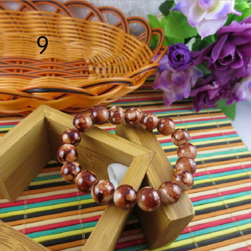 Office Fashion Wristband Charming Bangle Wedding Bracelet Girl Wholesale Glass Colorful Red White