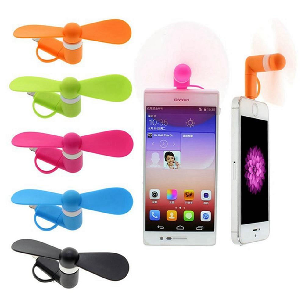 Cute Portable Phone Fan Cool Micro USB Fan Mobile USB Gadget Fans Tester For i phone Android DDA335