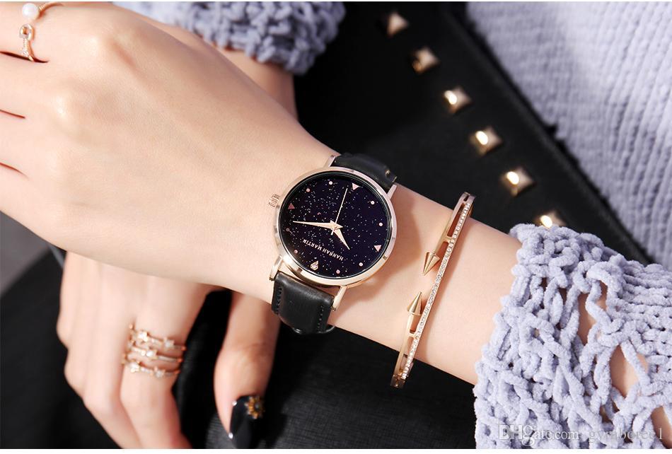 2018 new Quartz watch for lady fashion star women wrist watches Japan movement diamond genuine Leather XK36