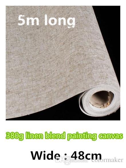 48cm hot sale artist linen canvas roll cotton canvas fabric roll linen  blend roll