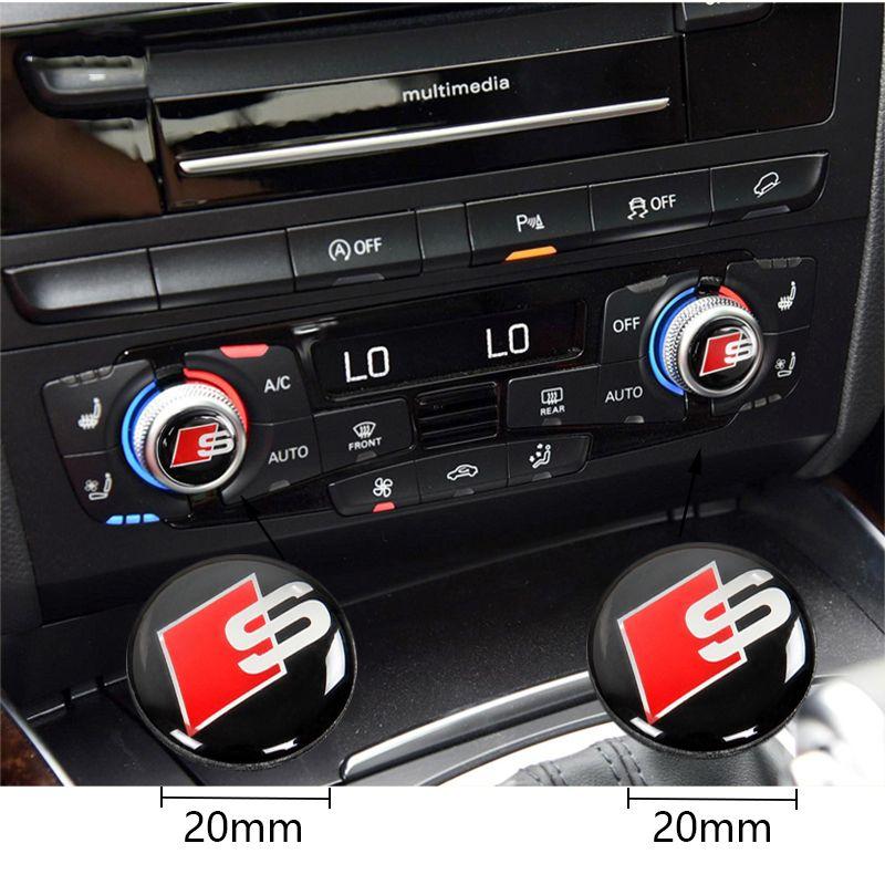 Grosshandel Sline Car Center Control Auto Innen Aufkleber Fur Audi A4