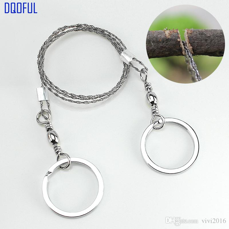 100pcs/lot Outdoor Survival Portable Stainless Steel Wire Sawing Emergency Practical Camping Hiking Manual Hand Gear Steel Rope Chain Saw