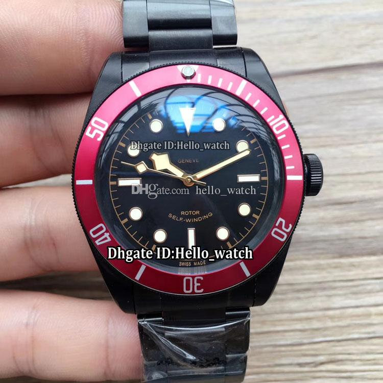 a3f3876862706 Heritage Black Bay M79230DK Black Dial Japan Miyota NH35 Automatic Mens  Watch Red Bezel Sapphire Glass PVD Black Case Band Gents New Watches  Chronograph ...