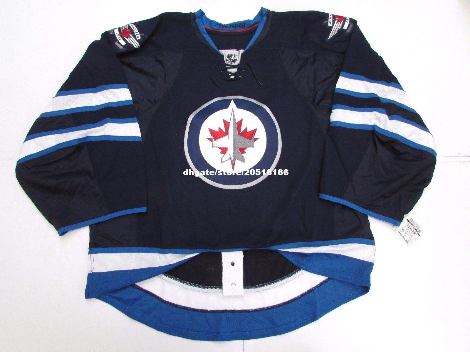 595d7cb98 Cheap Wholesale Custom WINNIPEG JETS HOME TEAM ISSUED EDGE JERSEY GOALIE  CUT 60 Mens Stitched Personalized Hockey Jerseys UK 2019 From Nfljersey1