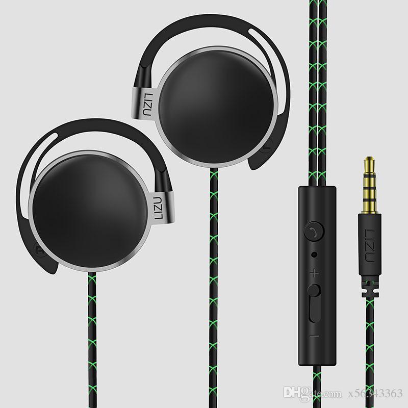 3.5mm 4 cores ear-gancho fone de ouvido esporte com fio headphone tunning headband jogo do fone de ouvido fones de ouvido com microfone caixa de varejo universal para iphone huawei