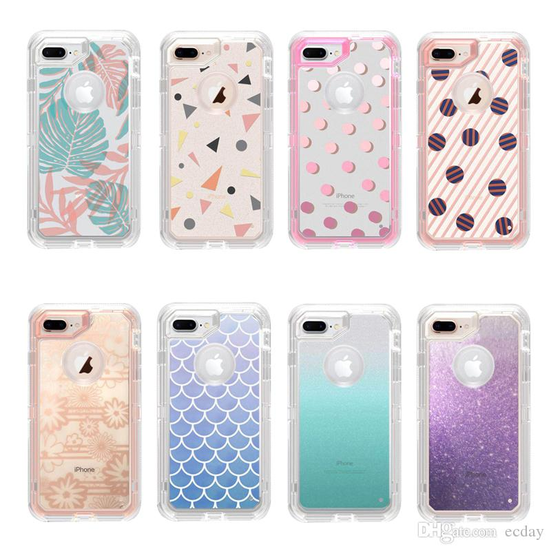 huge discount e8c84 287e0 For Iphone X Case 3D Pattern Transparent Crystal Clear Phone Case Iphone 7  8 Plus Samsung Galaxy S9 S8 Plus Robot Cases