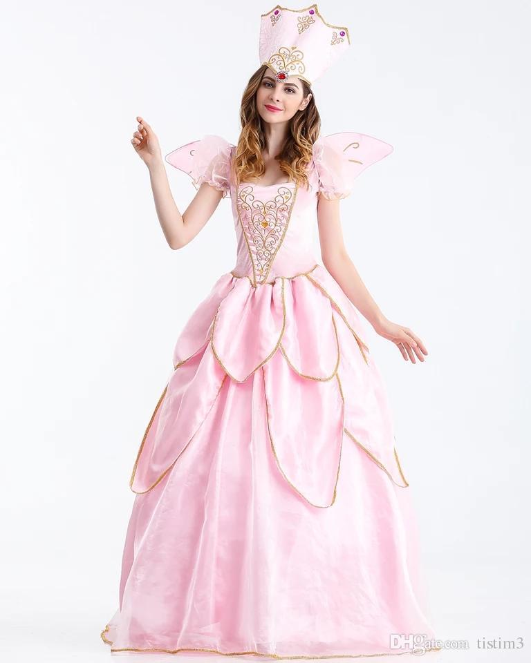 Elf Costume Queen Adult Queen\'S Back Dress Lotus Leaf Skirt Cos ...