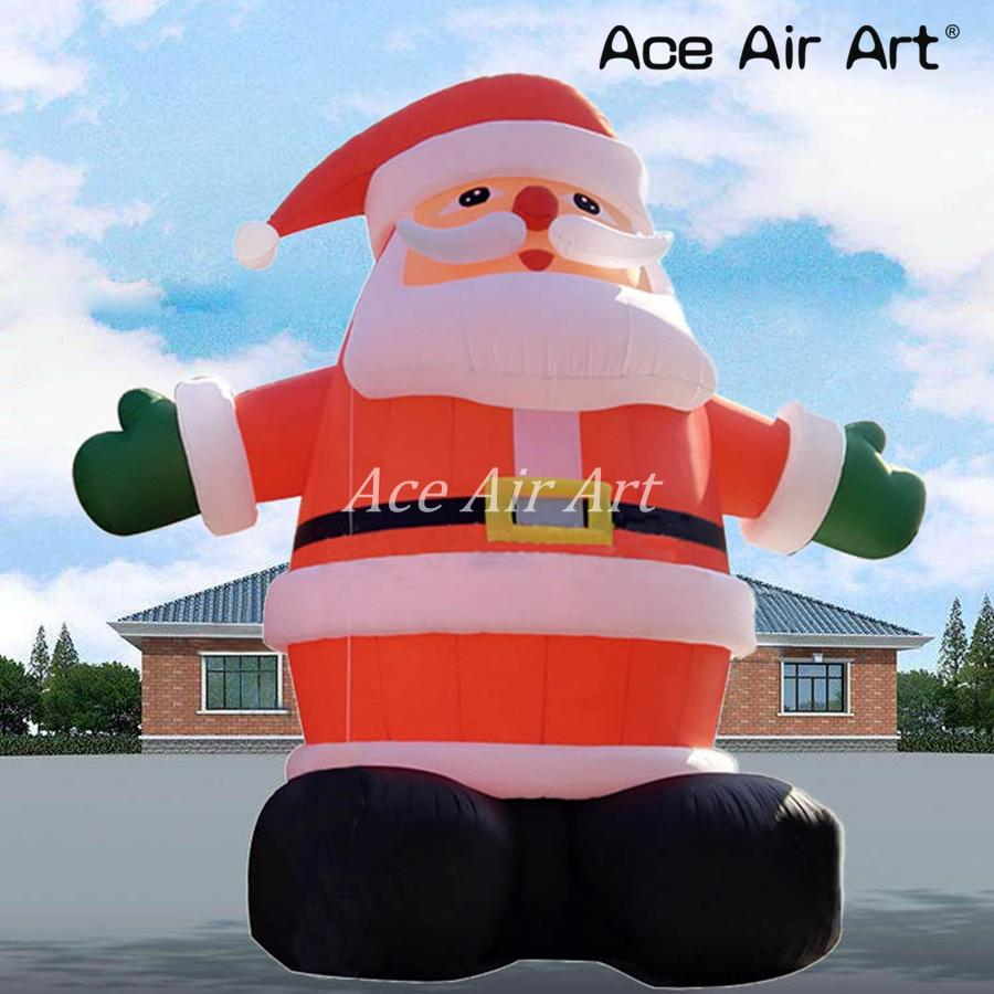 20 Ft Commercial Outdoor Christmas Inflatable Santa Giant Inflatable Santa Claus For Christmas Street Decoration