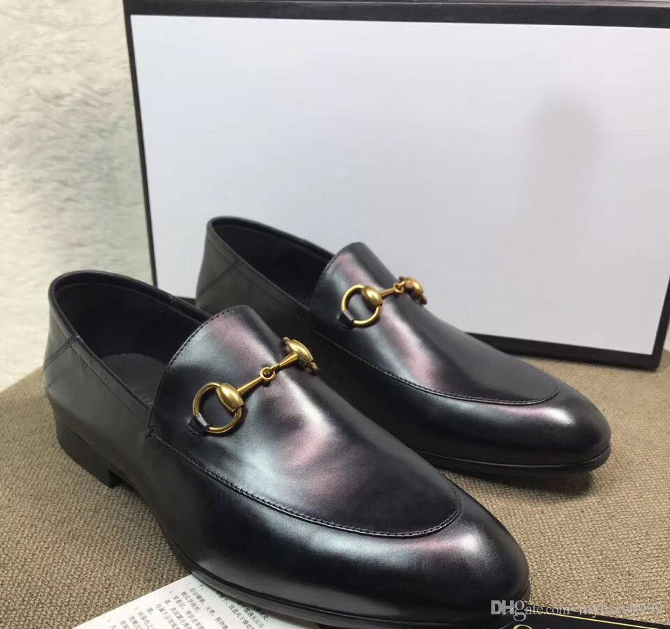 2018 New Fashion Men S Shoes Luxury Brand Top Leather Slip On Brand