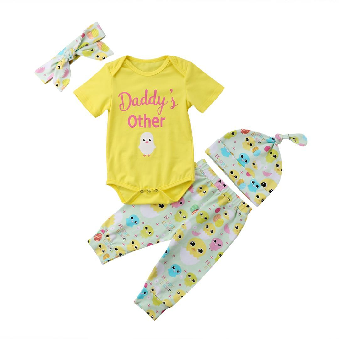 a2eeb50d3 2019 Newborn Kid Baby Boy Girl Clothes Jumpsuit Romper Long Pants Hat Outfit  Set Yellow From Windowplant, $33.17 | DHgate.Com