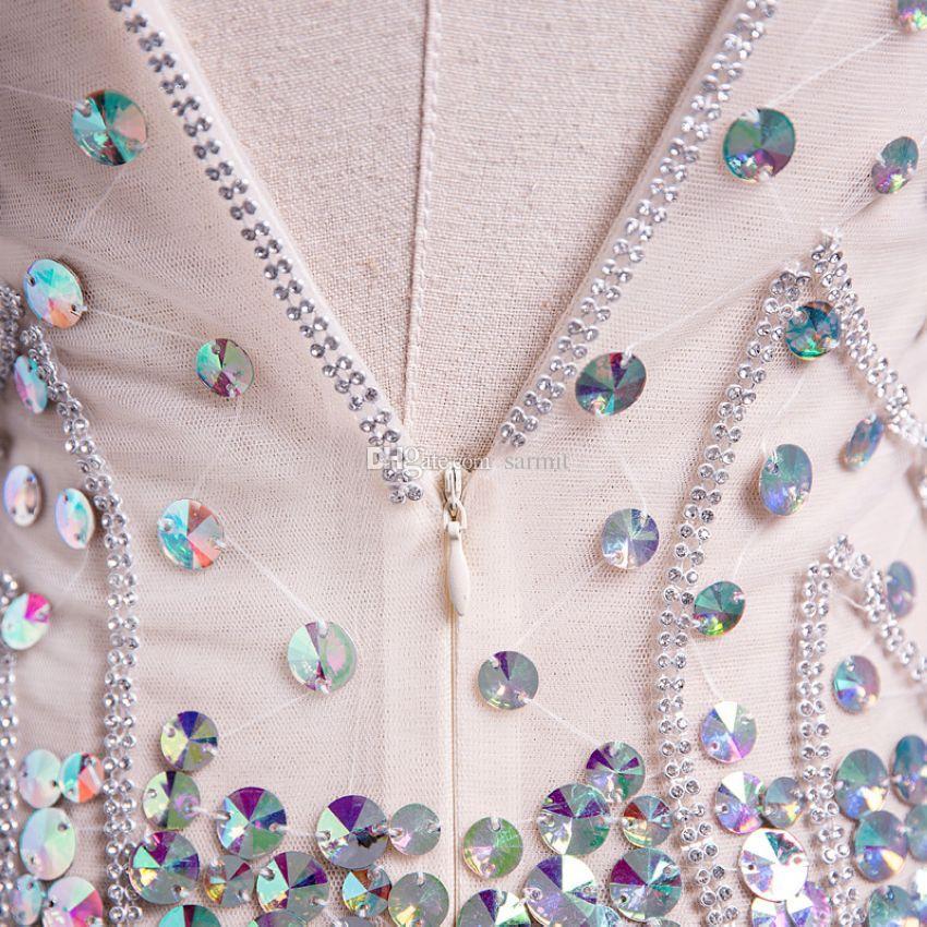 2018 femmes de luxe paillettes piste robes robe de soirée élégante F508 sexy robe de maille avec des strass scintillants paillettes personnaliser pris en charge
