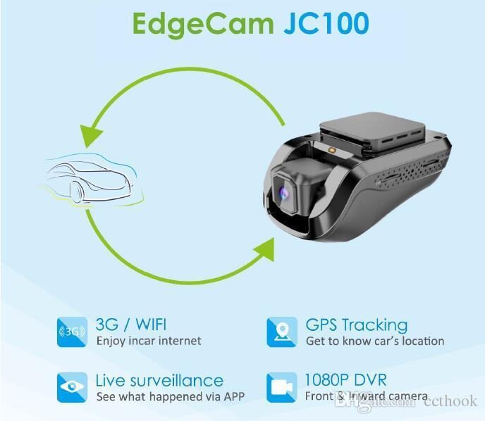 JC100 1080P HD 3G Smart Car DVR с GPS слежения видеорегистратор мониторинга ПК и бесплатное мобильное приложение