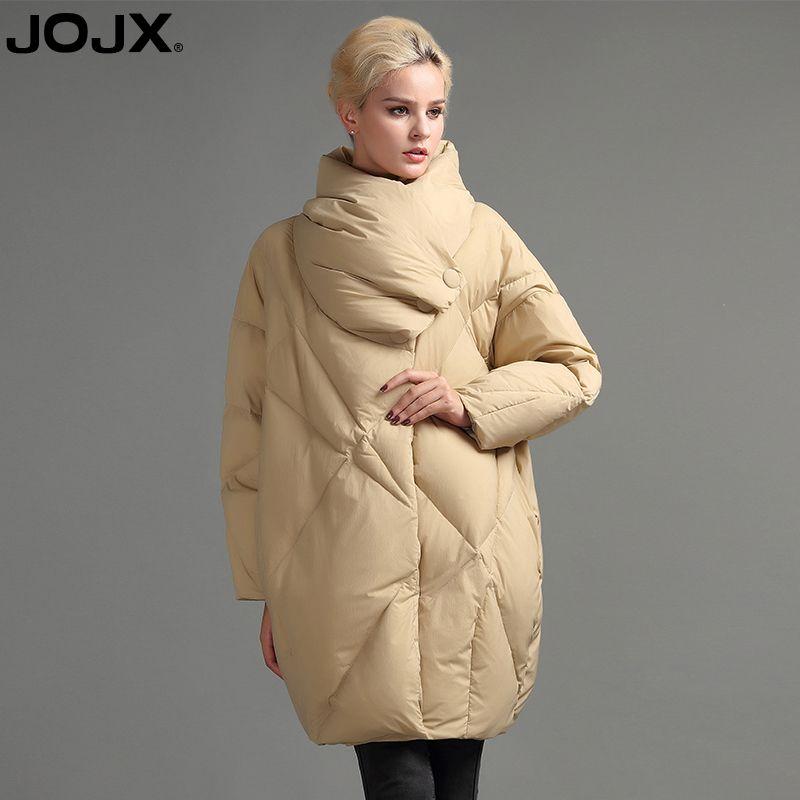 8344649b2 JOJX women jacket 2018 New Winter European Cocoon Style parka women Fashion  Loose Down Jacket Thick Winter Warm Coats Y18102402