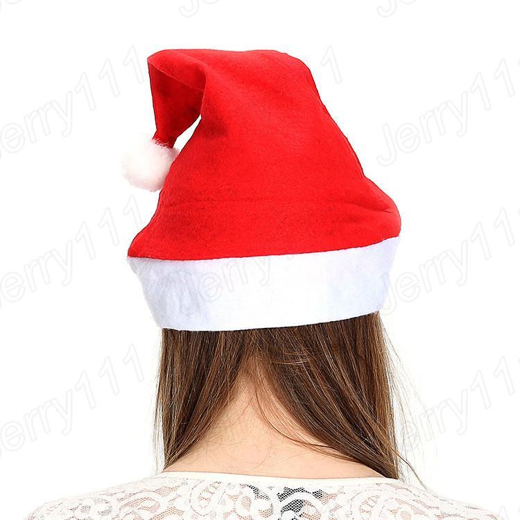 Acheter Enfants Noël Fête Père Noël Chapeau Rouge Et Blanc Chapeau . 0c937337b90