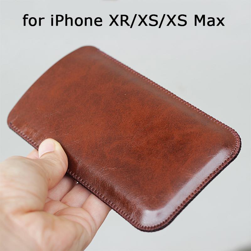 wholesale dealer 56d55 af34a 2018 New Phone Pouch for iPhone XS Case PU Leather Sleeve for iPhone XR/XS  Max Fashion Ultra-thin Bag for iPhone 9 Phone Holder