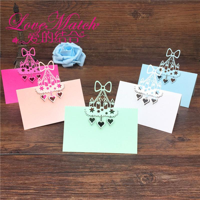 Birthday Cake Laser Cut Baby Shower Party Table Name Place Cards Wedding Invitations Card Decoration Anniversary