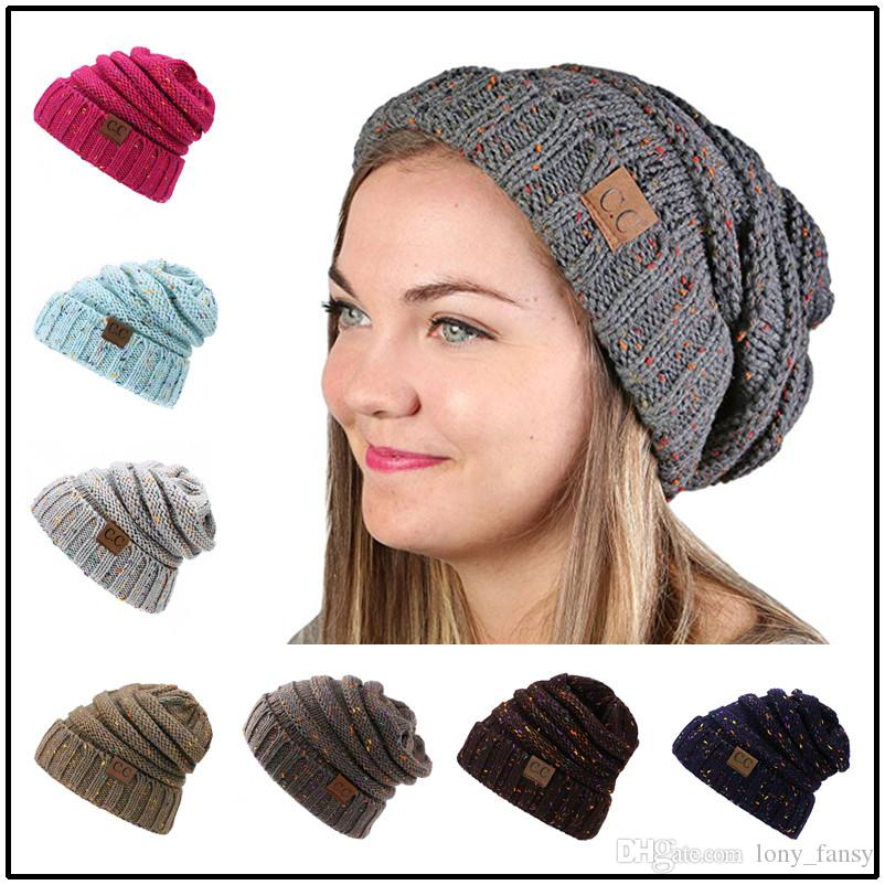 Wholesale CC Brand Hats Colorful Dots Women Men Beanies Fitted Hat Luxury  Polo Hats Baby Skull Caps Designer Dad Hats f787ff3c727