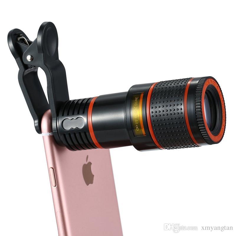 8x Zoom Optical Phone Telescope Portable Mobile Téléphone Telephoto Camera Lens et Clip pour iPhone Samsung HTC Huawei LG Sony Etc