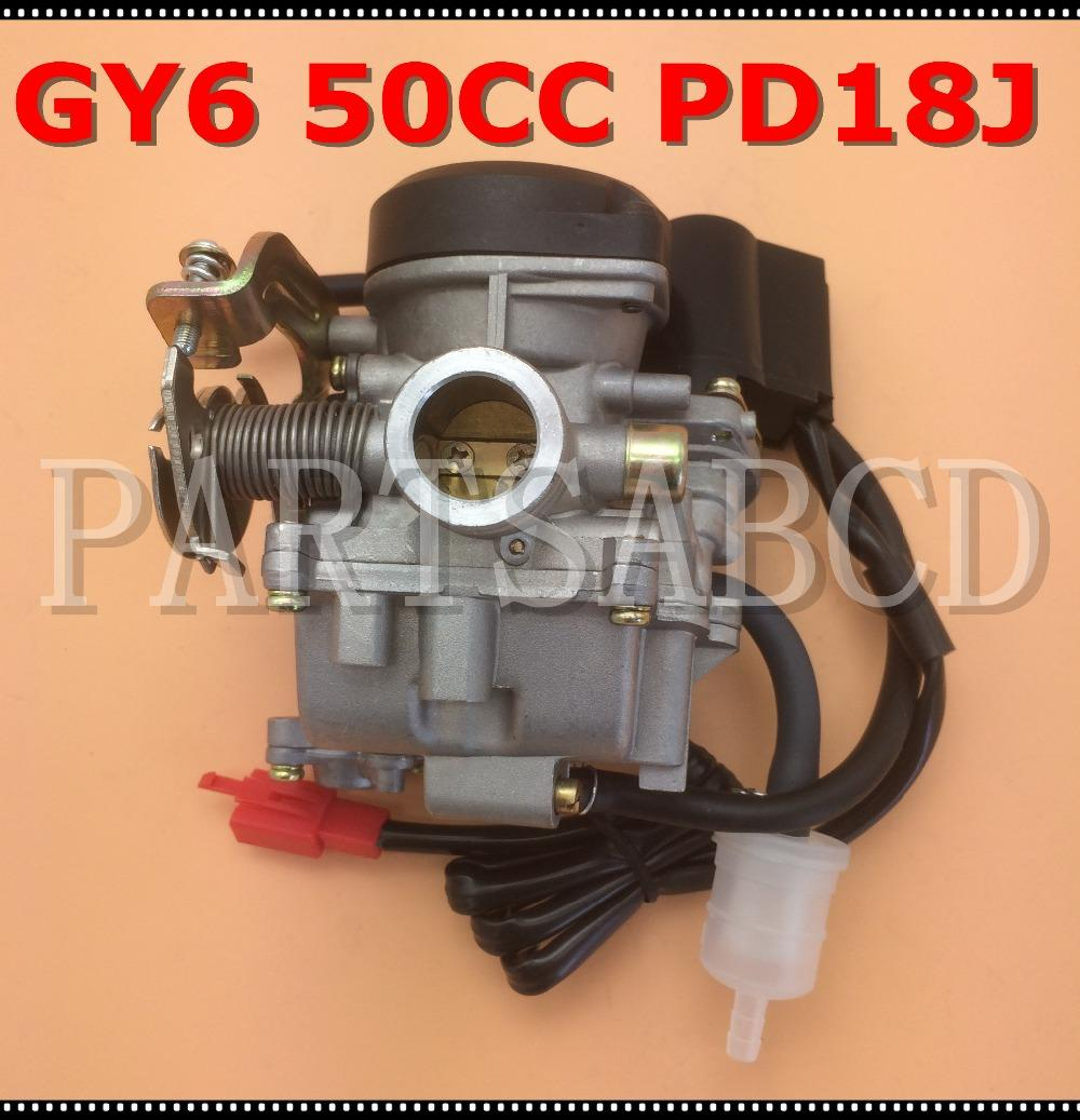 19mm Carb PD18J Carburetor for Chinese GY6 50cc 139QMB 139QMA scooter Moped  ATV