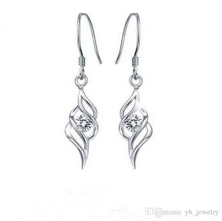 Women's Swiss Diamond Crystal Necklace & Earrings Set Angel Wings Jewelry Set Classic Swarovski Elements Wedding Dinner Party Jewelry